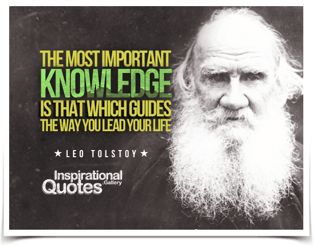 Leo Tolstoy Quote About Life
